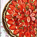Tarte fraise-menthe