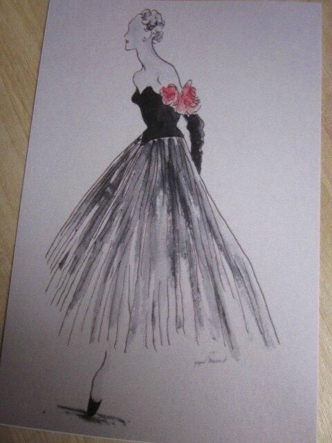 Carte postale - La Robe aux roses (2)
