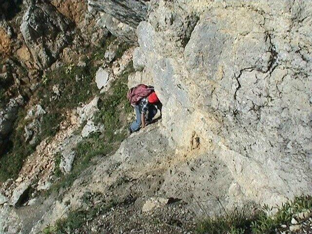 passage rocheux en dévers