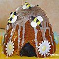Gâteau au miel ruche abeilles