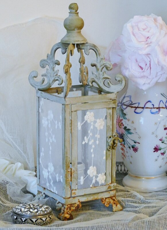 Lanterne bougie perle de lumi res cr ation d 39 abat - Decoration shabby en ligne ...