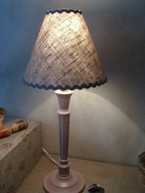 Lampe de Chevet Rose Fané & A.Jour Taupe H.M.