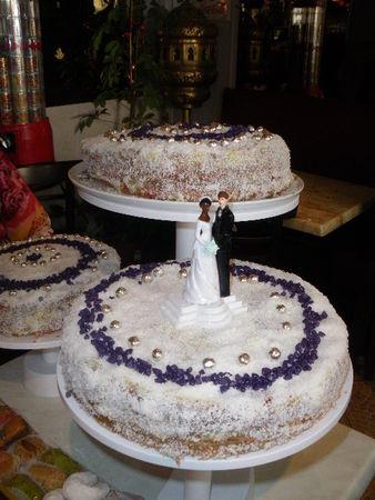 Mont Blanc version gâteau de mariage - La table de Marie-Chantal