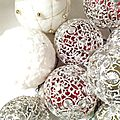 Boules ajourées vintage - boules de neige de noël 1 - Marimerveille