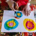 Les ronds à l'encre et pinceau PS