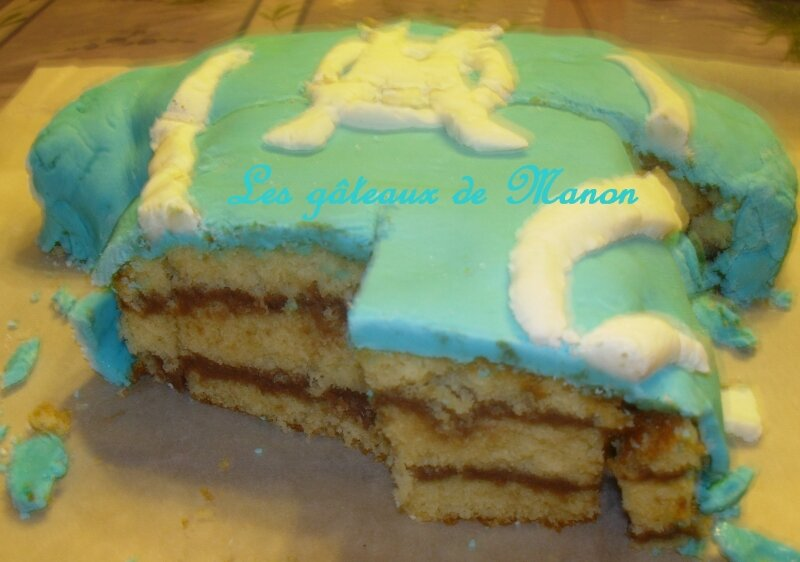 gâteau 3D maillot de l'OM