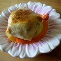 Gâteau à la crème de soja de face