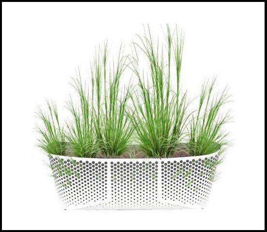 Jardini re rectangulaire en aluminium laqu laorus le for Jardiniere exterieure en aluminium