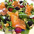 salade de truite fumée aux fruits rouges