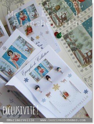 Marimerveille pochette transferts Le Noël de Blanche neige