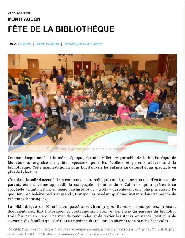 Loisirs _ Fête de la Bibliothèque - L'Est Républicain