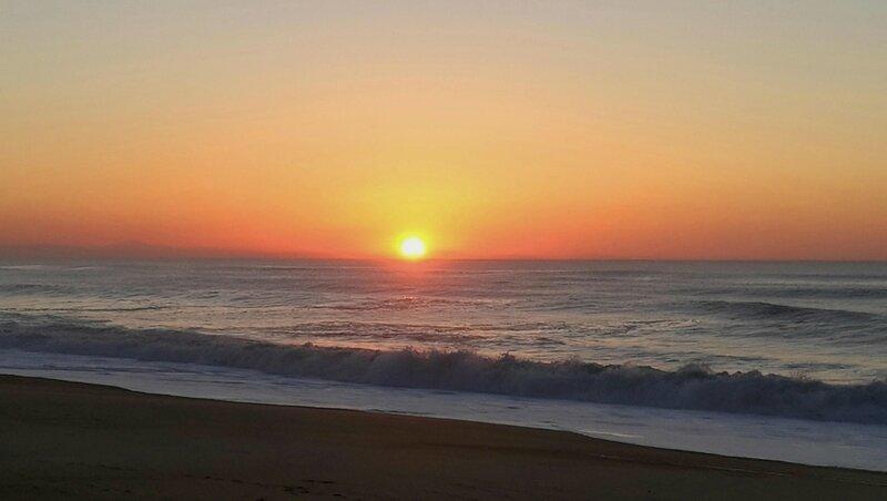 Labenne-Océan, plage et soleil couchant en hiver