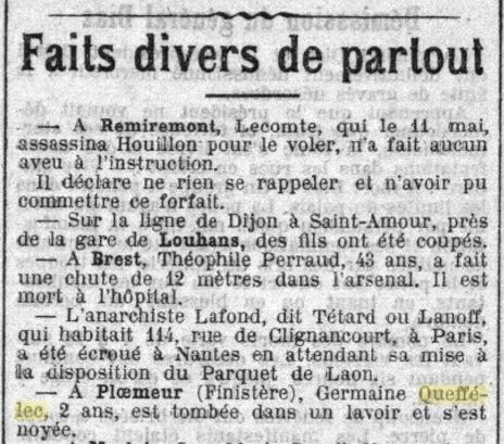 1911 le 27 mai Germaine Queffelec F Treguennec_2