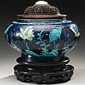 A fahua 'lotus' jar, ming dynasty, 16th century