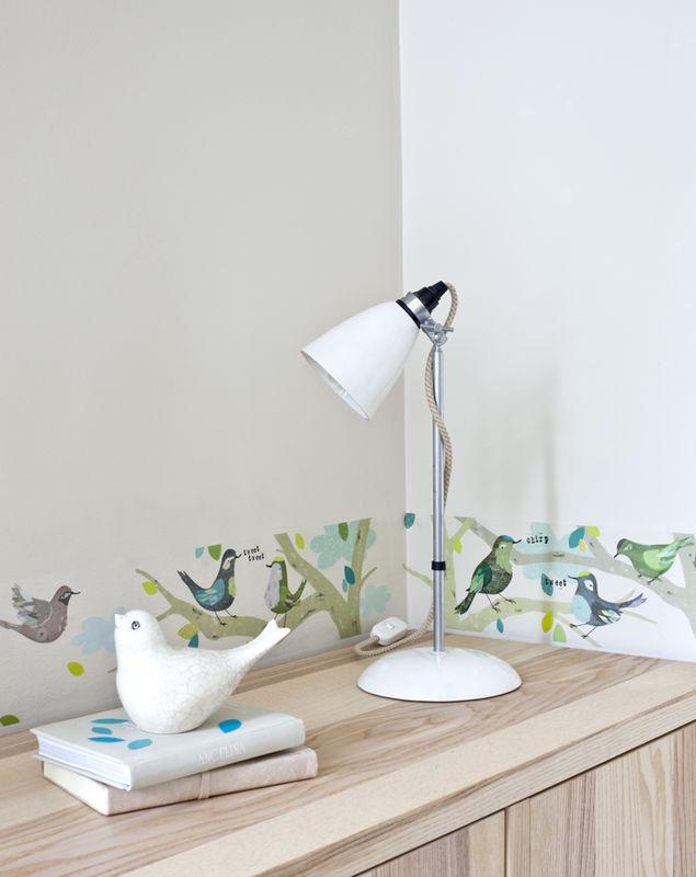 Frise adhésive - décoration chambre fille - les oiseaux vert - A