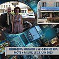 Librairie A la lueur des mots, à Lure le 15 juin 2013