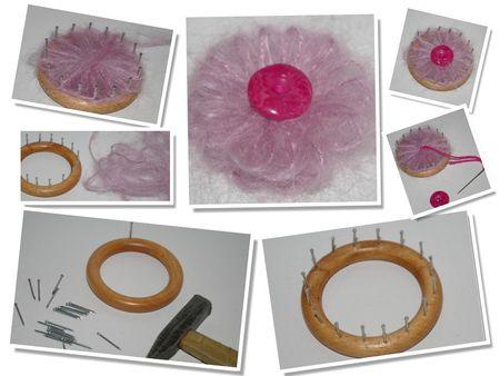 fabriquer un appareil pour faire des fleurs en laine .. - créer à