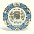 A large chinese 'famille-verte' 'province' dish, qing dynasty, kangxi period