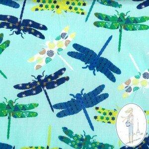 tissu-fantaisie-turquoise-libellule-zelie