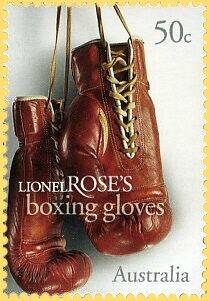 Timbre Australie Gants de boxe