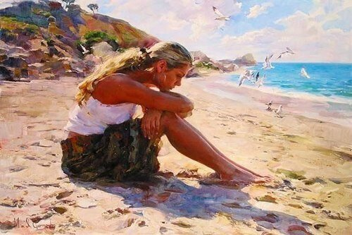 Garmash Michael Inessa basking in the sun