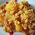Crumble aux poires caramélisées