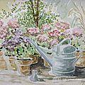 les hortensias (aquarelle)