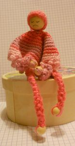 porte clef mouchoir rose 001