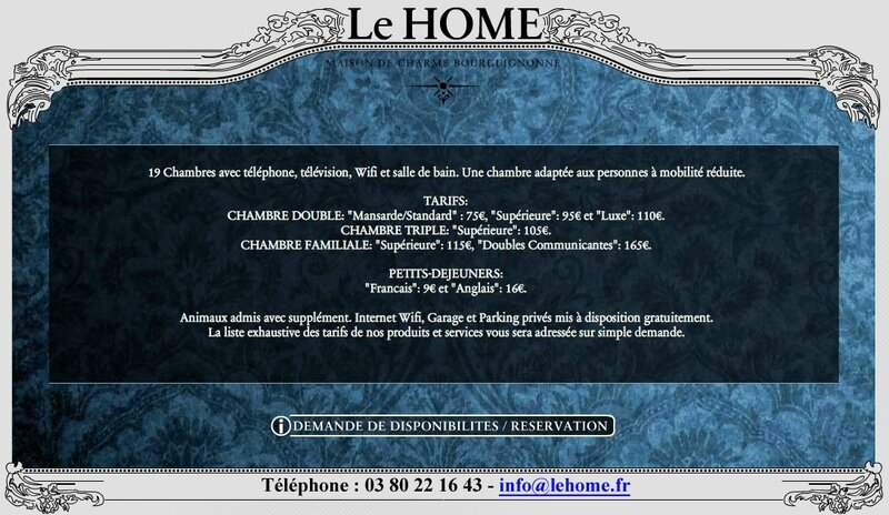 Le HOME (Tarif chbres) Top