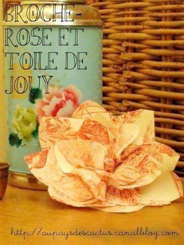 Broche rose TDJ