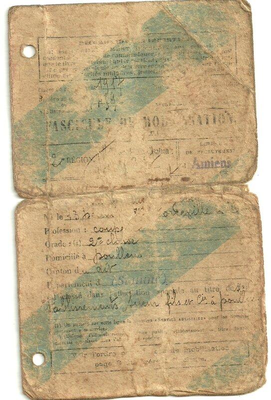Fascicule de mobilisation Verso
