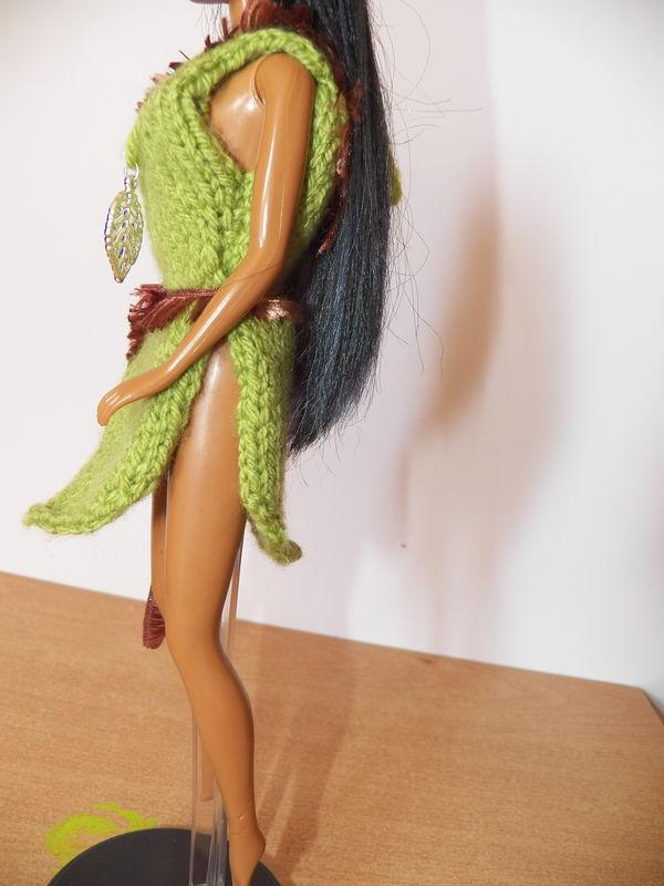 tricot barbie:robe Pocahontas