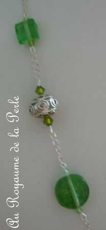 Collier Green Day détail 2a
