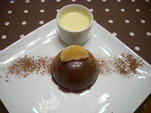 Domes au chocolat et la cl mentine claire ose faire for Dessert facile et rapide et original