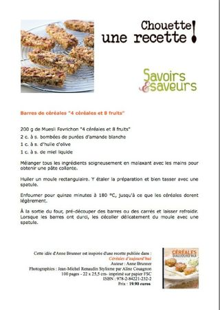 fiche recette roanne