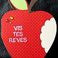carte en forme de pomme rouge