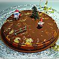 Gâteau à l'orange et à la banane et sa sauce chocolat