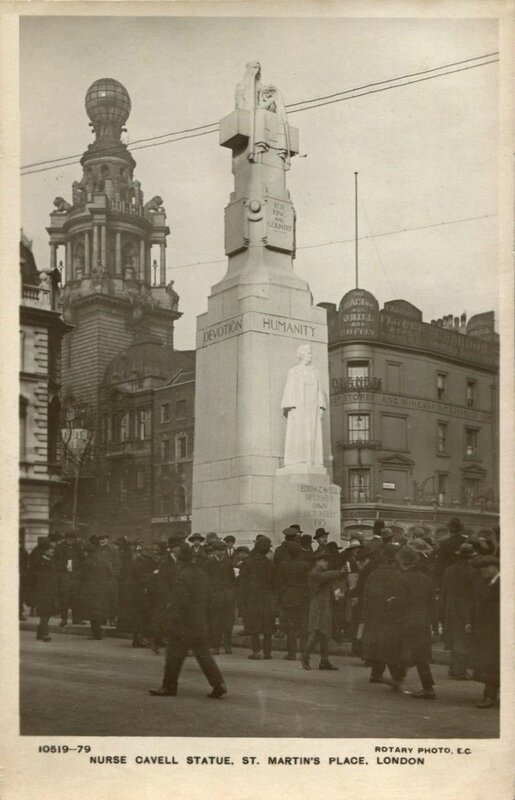 CPA Londres Statue Edith Cavell St Martin's Place