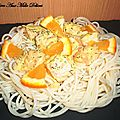 Spaghettis au saumon et à l'orange