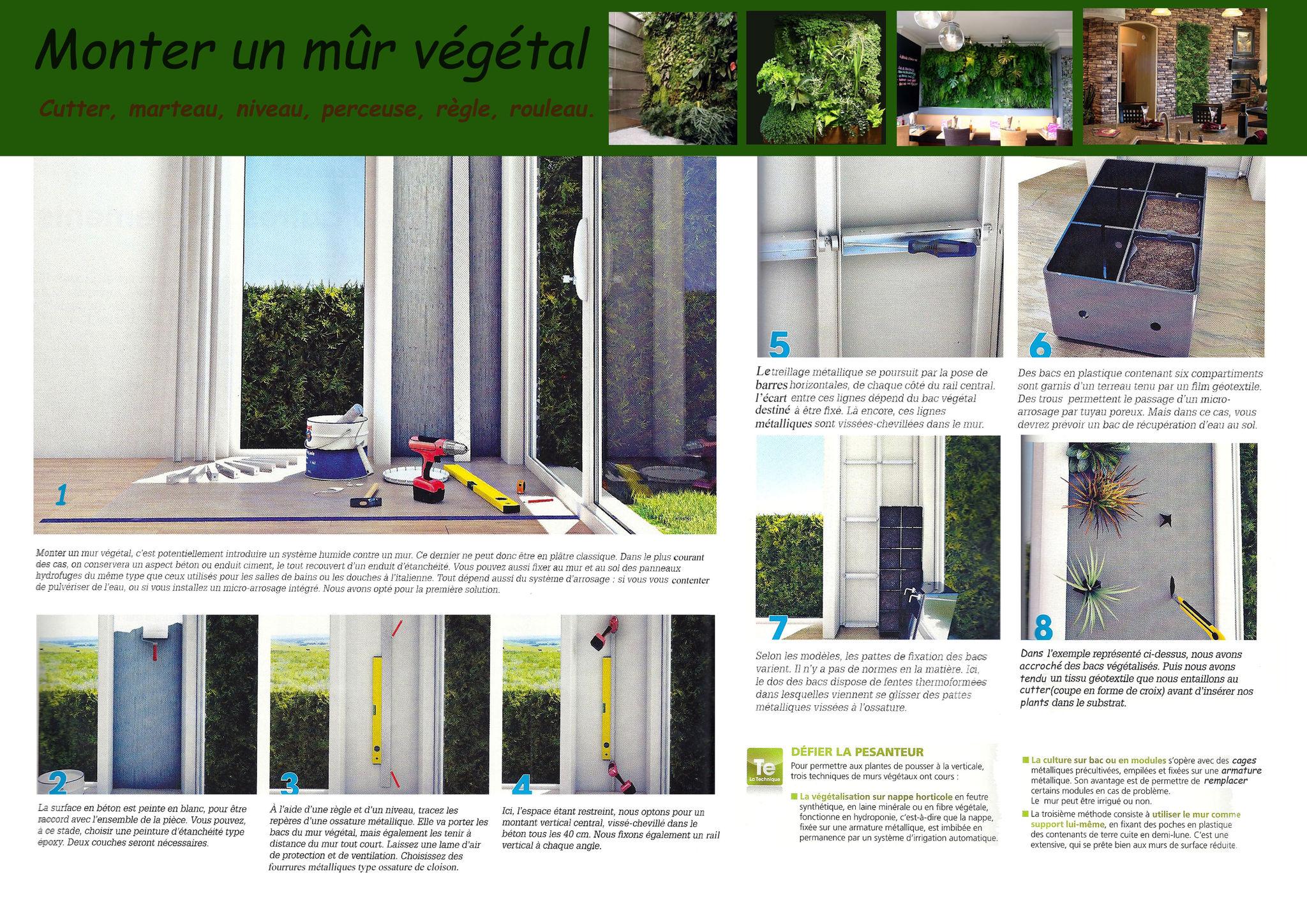 faire un mur vegetal exterieur soi meme. Black Bedroom Furniture Sets. Home Design Ideas