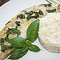 Papillotte de perche du nil curry et basilic à la plancha