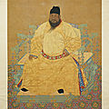Seated portrait of the ming emperor xuanzong. anonymous, ming dynasty