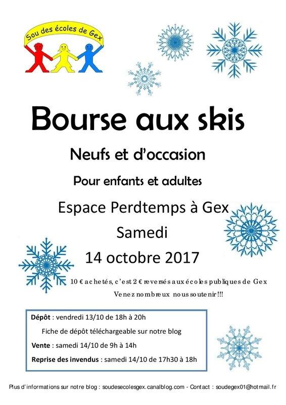 Affiche bourse skis 2017