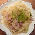 Spaghetti au chou et au lard
