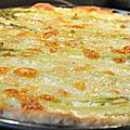 Pizza aux asperges vertes