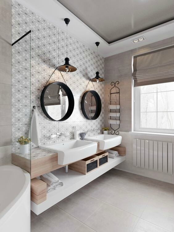 inspiration salle de bain merci ginette. Black Bedroom Furniture Sets. Home Design Ideas