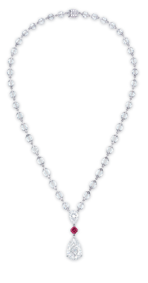 A unique diamond and coloured diamond pendant necklace, by Nirav Modi