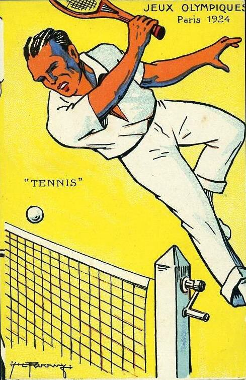 CPA JO Paris 1924 Tennis