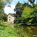 Moulin à eau sur l'Anglin (Concremiers, août 2015)