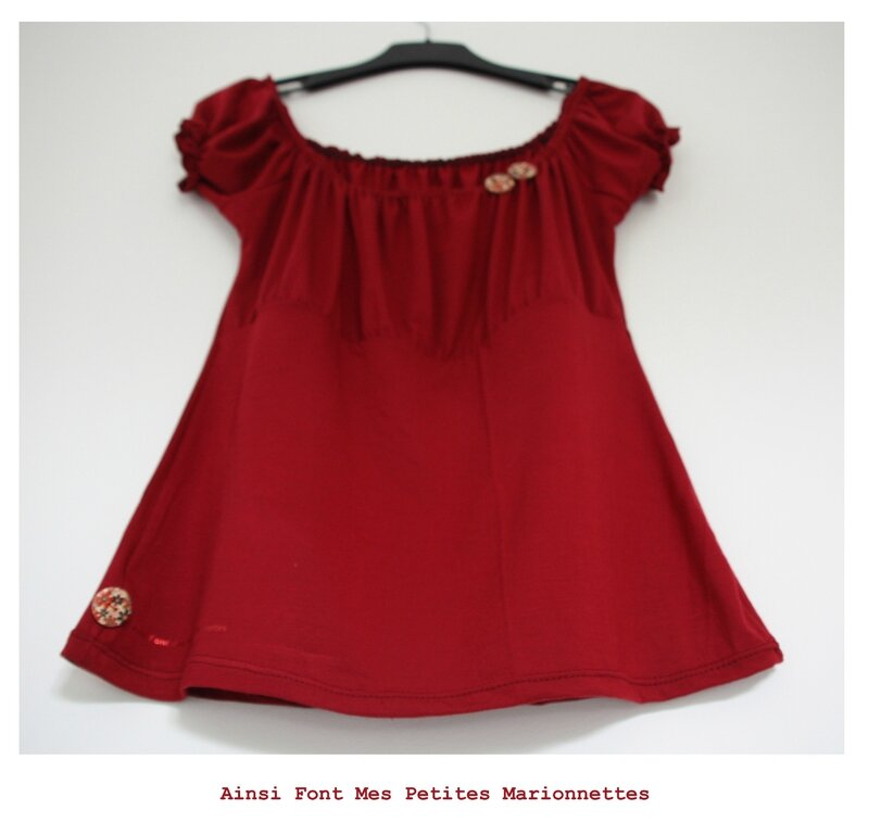 top froncee rouge 3